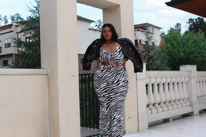 Stripes on My | Zebra Print Jumpsuit