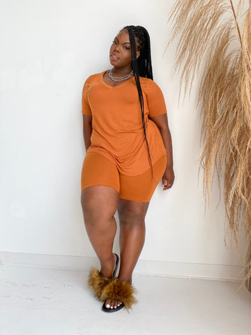 Cool Cutie | Caramel Short Set