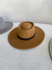 Chic Beginnings | Almond Wide Brim Hat