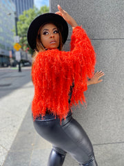 Shag Shag | Orange Shaggy Sweater