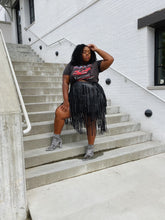 Load image into Gallery viewer, Fringe City | Vegan Leather Fringe Skirt