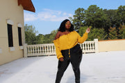 Honey Dip | Yellow Knit Sweater