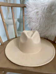 Chic Happens  | Cream Wide Brim Hat