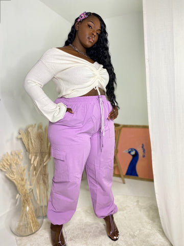 Pretty Mission | Lilac Cargo Pants