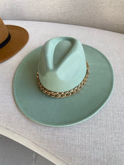 Top Down | Mint Wide Brim Hat
