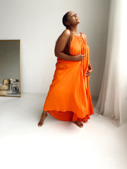 Take Me Away | Tangerine  Maxi Dress