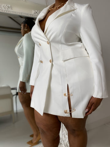 Never Stop | Ivory Blazer Dress