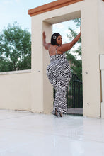 Load image into Gallery viewer, Stripes on My | Zebra Print Jumpsuit
