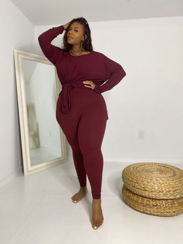 Vibe Reset  |  Burgundy 2pc Set