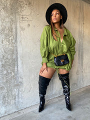 Big Swag  | Olive Oversized Dress