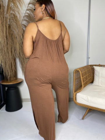 Lets Go | Brown Jumpsuit