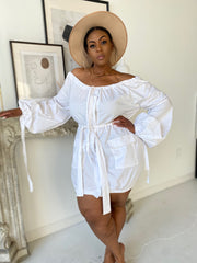 High Fashion | White Puff Sleeve Dress