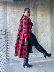 Tough Love  |  Plaid Maxi Top