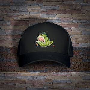 Bass Louie: Waterway Protector adult black fishing hat