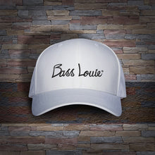 Bass Louie: Waterway Protector adult white fishing hat