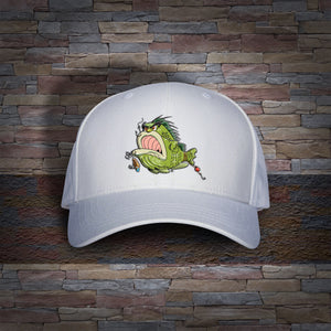 Bass Louie: Waterway Protector youth white fishing hat