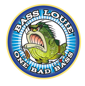 Bass Louie: Waterway Protector One Bad Bass fishing pin