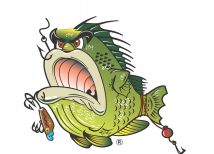 Bass Louie: Waterway Protector pack of 10 fishing tattoos