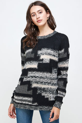 Multi Yarn Sweater Top