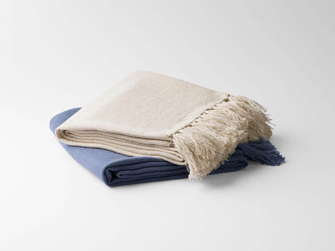 100% Fine European Linen Throw Blanket