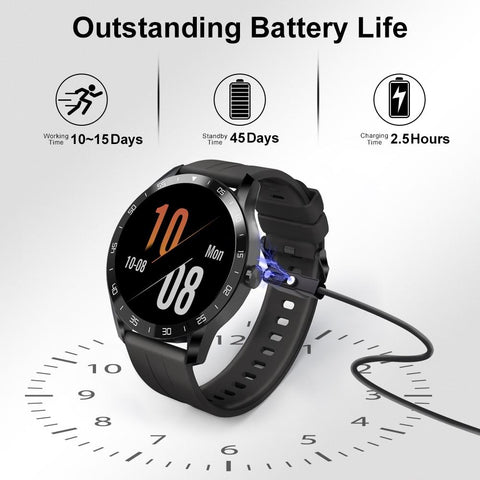 SmartWatch 5ATM Waterproof Heart Rate Men Women Sports Clock Sleep