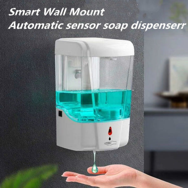 Automatic Soap Dispenser Touchless Wall Mounted Sensor Hand Sanitizer Detergent Bathroom Kitchen hand sanatizer dispenser
