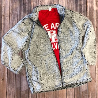 Zippered Sherpa Jacket