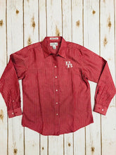 LADIES, BAW, Shirt, Button-down, L/S, Heathered Stripe