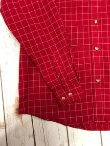LADIES, BAW, Shirt, Button Down, L/S, Windowpane Check