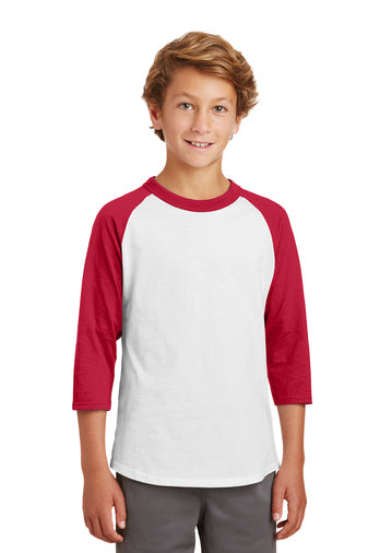 YOUTH, Sport-Tek, Raglan, Color Block Jersey