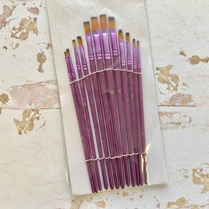 Flat Brush Set (Purple)