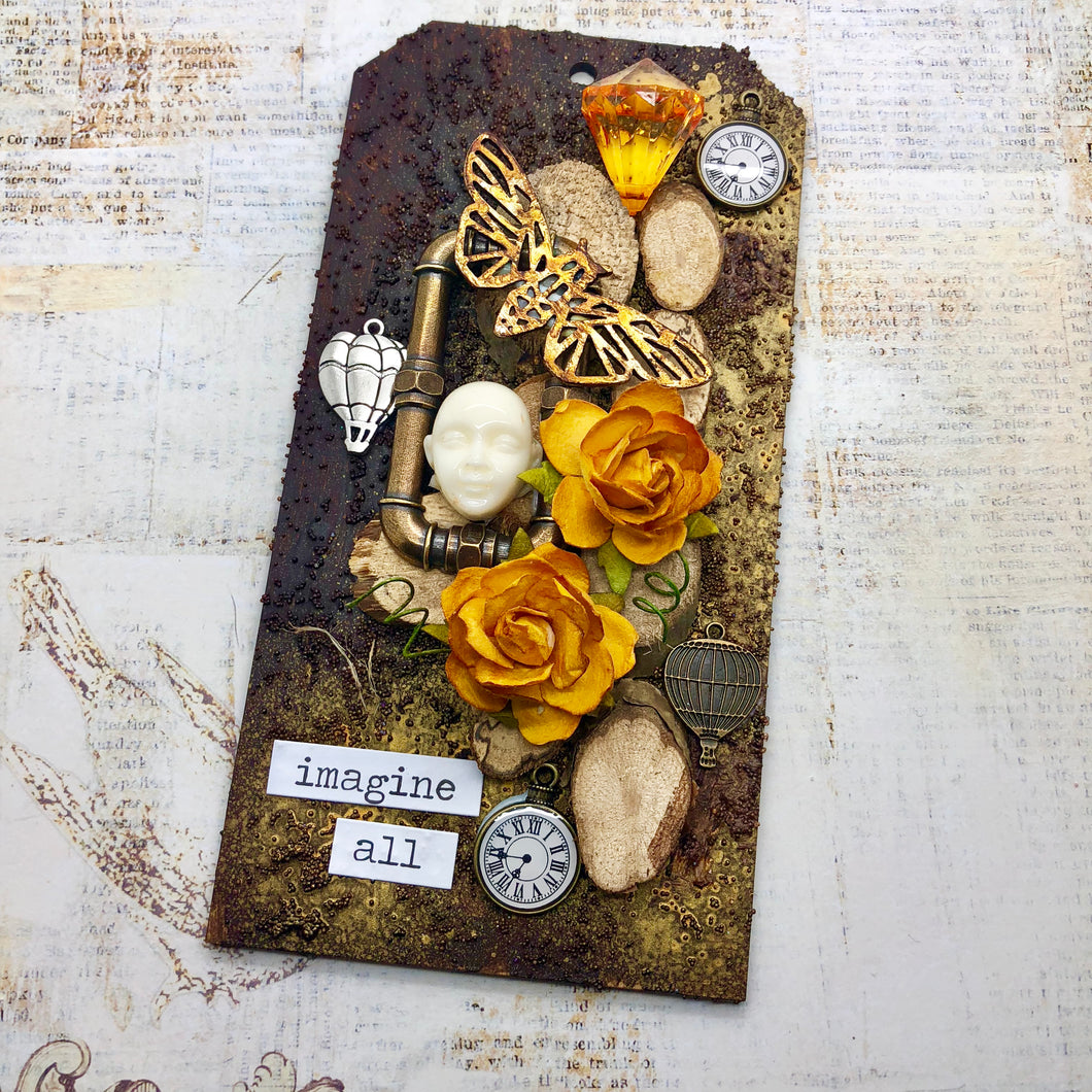 Steampunk Tag (Kit Option Available)