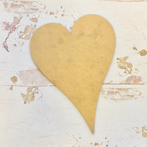 MDF Base - Pointy Heart (22cm)