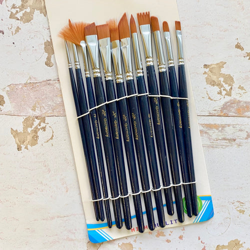 Excellent Quality Brush Set (Dark Blue)