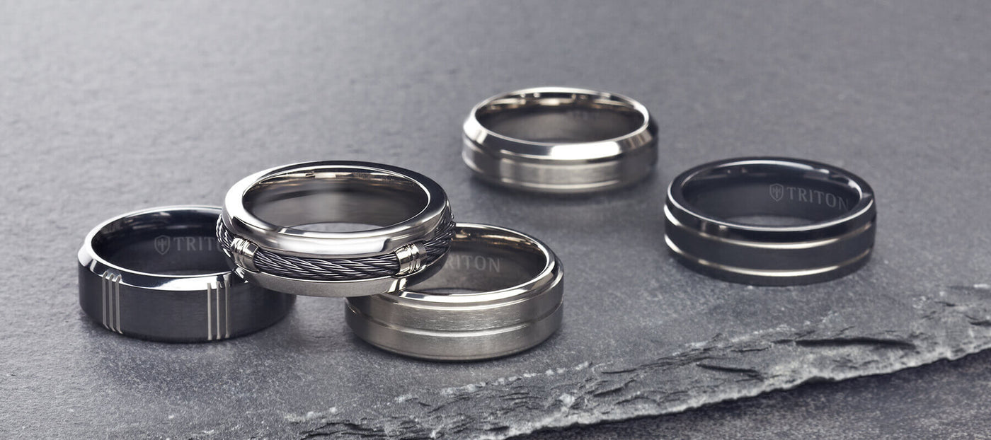 Triton Jewelry | Men's Tungsten & Metal Wedding Rings, Bands