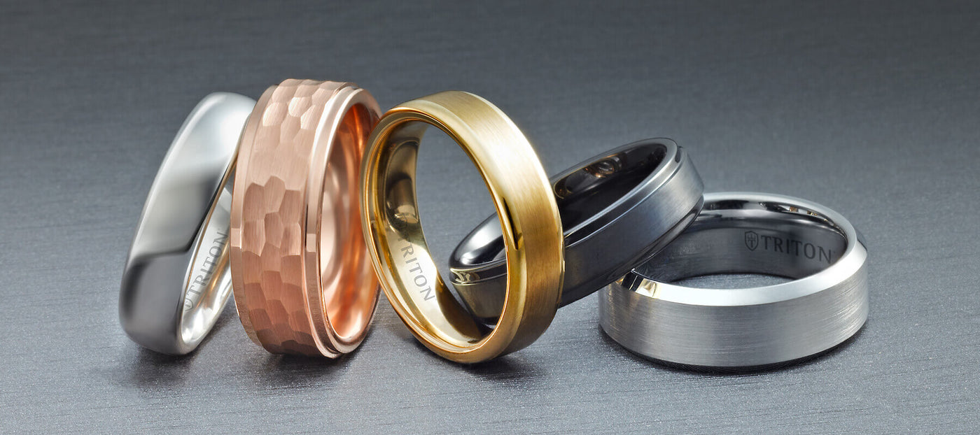 98101f6028a69 Triton Jewelry   Men's Tungsten & Metal Wedding Rings, Bands & Jewelry