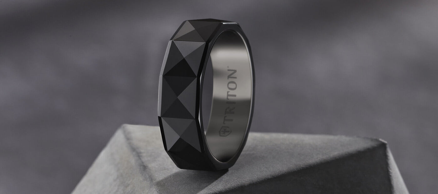 Black Wedding Bands.Men S Black Tungsten Wedding Bands And Rings Triton Jewelry