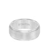 9MM Tungsten Carbide Ring - Brushed Finish and Step Edge