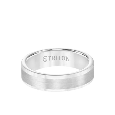 6MM Tungsten Carbide Ring - Satin Finish and Round Edge
