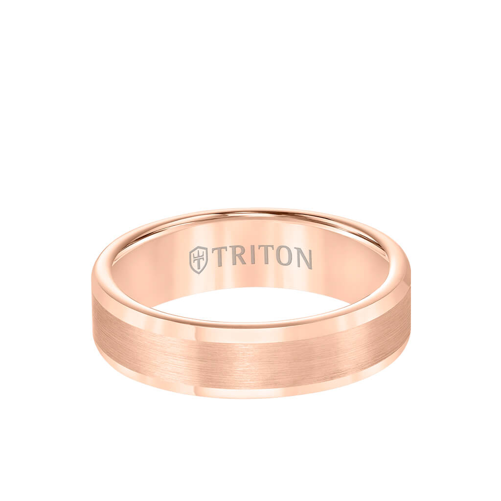 6MM Tungsten Carbide Ring - Satin Finish and Round Edge - Triton Jewelry