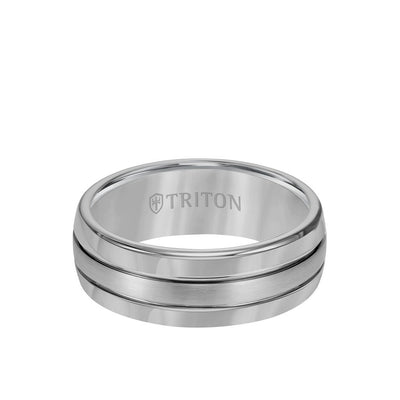 8MM Tungsten Carbide Ring - Bright Finish and Edge