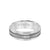 7MM Titanium Ring - Brushed Center and Round Edge