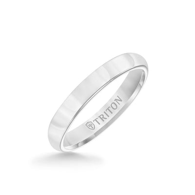 3MM Tungsten Carbide Ring - Bright Finish and Flat Edge