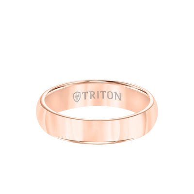 5MM Tungsten Carbide Ring - Bright Finish and Flat Edge