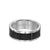 8.5MM Tungsten Carbide Ring - Brick Pattern Center and Bevel Edge