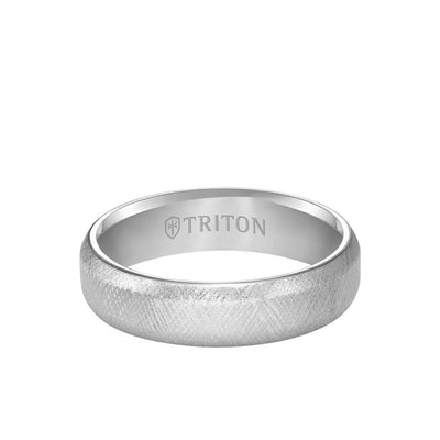 6MM Tungsten Carbide Ring - Florentine Center and Bevel Edge
