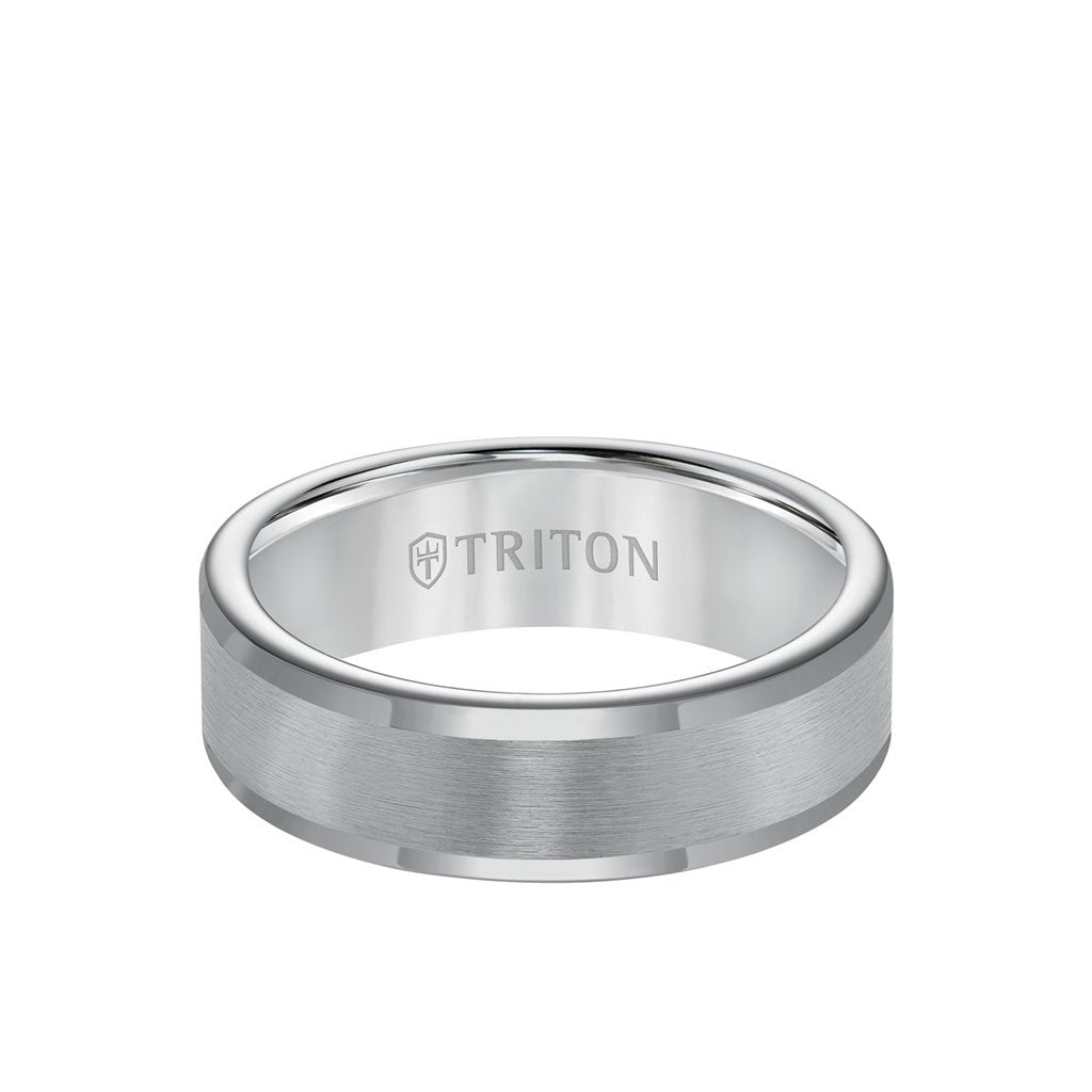 It is just a photo of 41MM Tungsten Carbide Ring - Satin Center and Round Edge