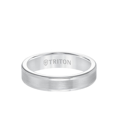 5MM Tungsten Carbide Ring - Satin Center and Round Edge