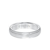 5MM Tungsten Carbide Ring - Satin Center and Step Edge