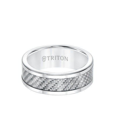 8MM Tungsten and Carbon Fiber Ring
